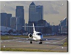 London City Airport Acrylic Print by David Pyatt