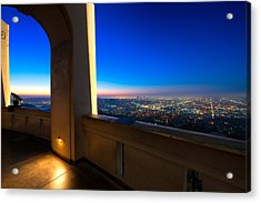 Los Angeles As Seen From The Griffith Observatory Acrylic Print by Celso Diniz