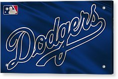 Los Angeles Dodgers Uniform Acrylic Print
