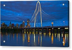 Margaret Hunt Hill Bridge Acrylic Print by John Babis