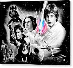May The Force Be With You Acrylic Print by Andrew Read