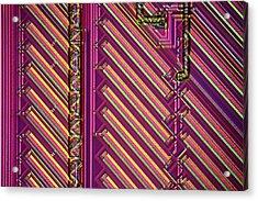 Microchip Surface Acrylic Print