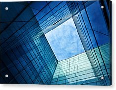 Modern Glass Architecture Acrylic Print by Nikada