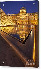 Musee Du Louvre Acrylic Print by Brian Jannsen
