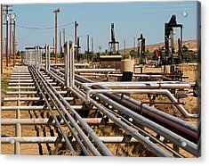 Natural Gas Pipelines Acrylic Print by Jim West