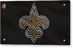 New Orleans Saints Uniform Acrylic Print by Joe Hamilton
