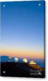 Observatories On Summit Of Mauna Kea Acrylic Print