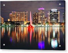 Orlando Downtown Dusk Acrylic Print