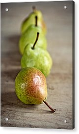 Pears Acrylic Print by Nailia Schwarz