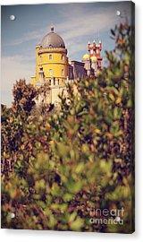 Pena Palace Acrylic Print by Carlos Caetano