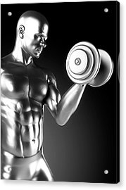 Person Weight Lifting Acrylic Print by Sebastian Kaulitzki