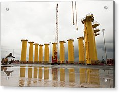 Pieces For The Walney Offshore Windfarm Acrylic Print by Ashley Cooper