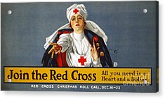 Red Cross Poster, 1917 Acrylic Print by Granger
