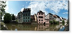 Reflection Of Buildings On Water Acrylic Print by Panoramic Images