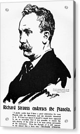 Richard Strauss (1864-1949) Acrylic Print by Granger