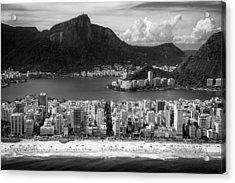 Rio De Janeiro City Acrylic Print by Celso Diniz