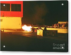 Skyview Drags Night Of Fire 2007 Acrylic Print by Vicki Hopper