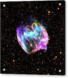 Supernova Remnant Acrylic Print by Nasa