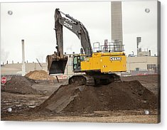 Syncrude Upgrader Plant Acrylic Print by Ashley Cooper