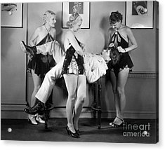 Three Stooges - Larry Moe And Curly Acrylic Print by MMG Archive Prints