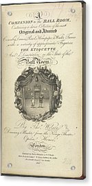 Title Page Acrylic Print by British Library