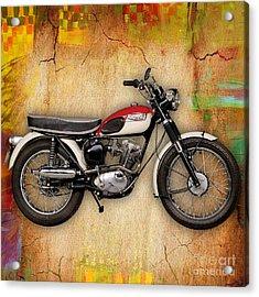 1969 Triumph Bonneville Bobber  Acrylic Print by Marvin Blaine