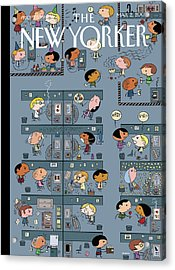 New Yorker March 2nd, 2009 Acrylic Print by Ivan Brunetti