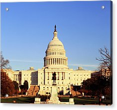 Usa, Washington Dc, Capitol Building Acrylic Print by Walter Bibikow