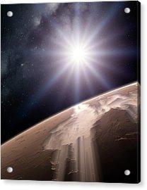 Valles Marineris Acrylic Print by Detlev Van Ravenswaay