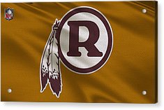 Washington Redskins Uniform Acrylic Print by Joe Hamilton