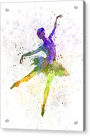 Woman Ballerina Ballet Dancer Dancing  Acrylic Print