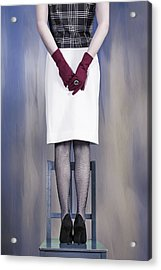 Woman On Chair Acrylic Print by Joana Kruse