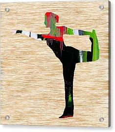 Yoga Acrylic Print by Marvin Blaine