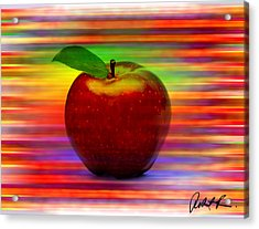 60x45 Print Or Canvas Wrap The Apple By Robert R Signed Prints Acrylic Print