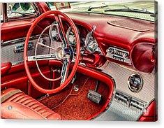 62 Thunderbird Interior Acrylic Print
