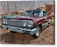 '63 Impala Acrylic Print by Victor Montgomery