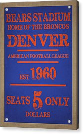 Denver Broncos Acrylic Print by Joe Hamilton