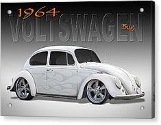 64 Volkswagen Beetle Acrylic Print