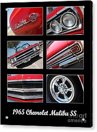 65 Malibu Ss Poster Acrylic Print by Gary Gingrich Galleries