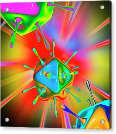 Virus Acrylic Print by Mehau Kulyk