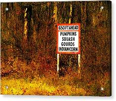 650 Ft. Ahead Acrylic Print by David Blank