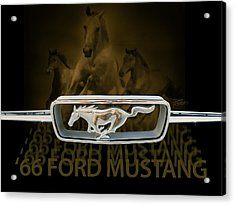 Acrylic Print featuring the digital art '66 Ford Mustang by Doug Kreuger
