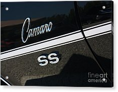 67 Black Camaro Ss Logo-8024 Acrylic Print by Gary Gingrich Galleries
