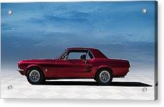 67 Mustang Acrylic Print by Douglas Pittman