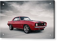 Acrylic Print featuring the digital art 69 Camaro by Douglas Pittman