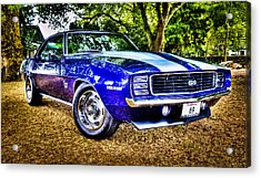 69 Chevrolet Camaro - Hdr Acrylic Print by motography aka Phil Clark