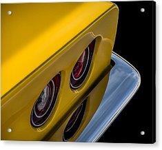 '69 Corvette Tail Lights Acrylic Print by Douglas Pittman