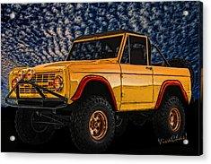 69 Ford Bronco 4x4 Restoration Acrylic Print