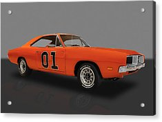 1969 General Lee Dodge Charger Acrylic Print