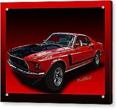 69 Mustang Mach 1 Acrylic Print